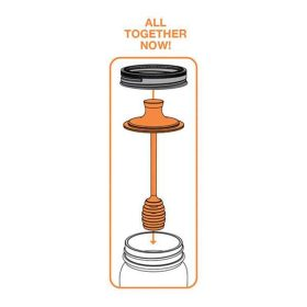 Honey Dipper for Mason Jar