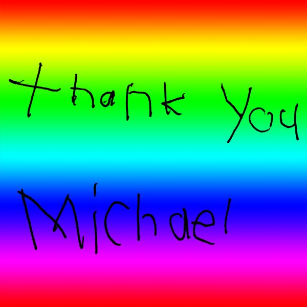 Michael's Thank You Note to his Customers 6 years old. :)